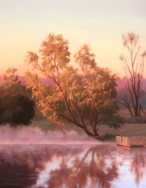 Misty Morning Pond  Art | Terry Sauve Fine Art