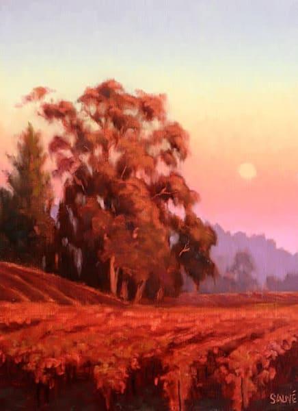 Early Autumn Moonrise Over The Vineyard  Art | Terry Sauve Fine Art