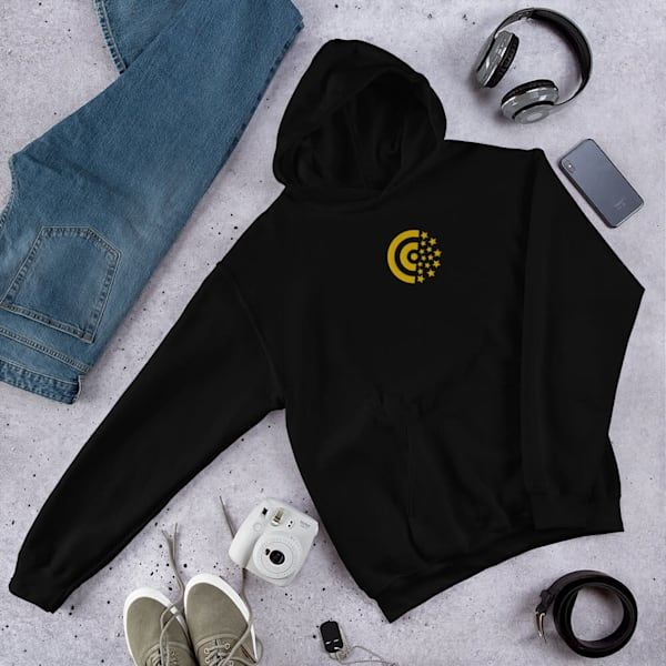 Gold Label Center Embroidered Unisex Hoodie