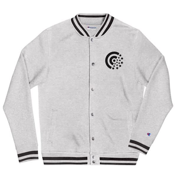 Black Label Embroidered Champion Bomber Jacket