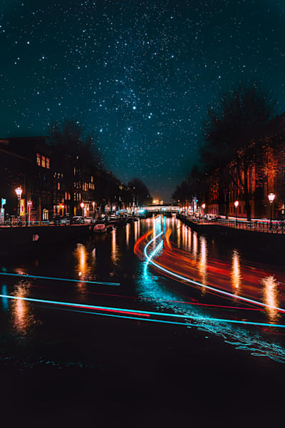 Cityscapes on Amsterdam Canals