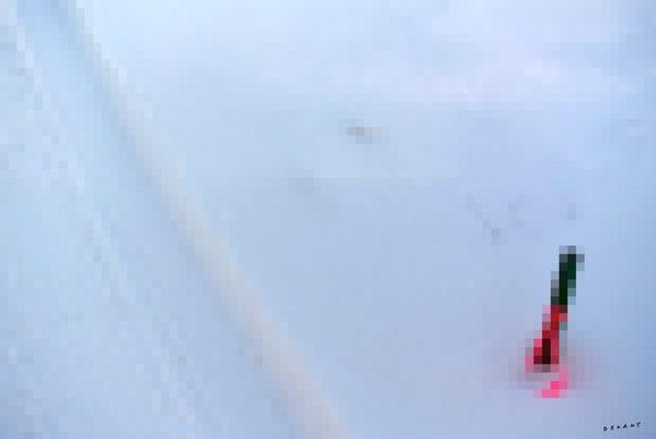 Snowy Marker Pixelated