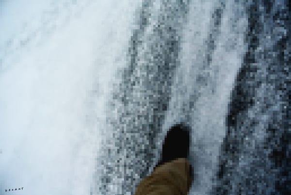 Slush Foot in Winter PIXELATED