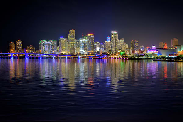 The City of Miami at Night | Shop Photography by Rick Berk