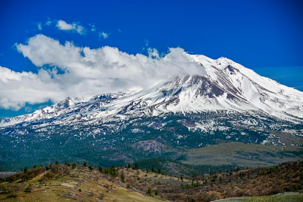 Mt. Shasta in spring