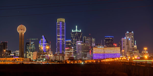 Dallas Celebrates Kobe Bryant - Dallas Skyline Images | William Drew