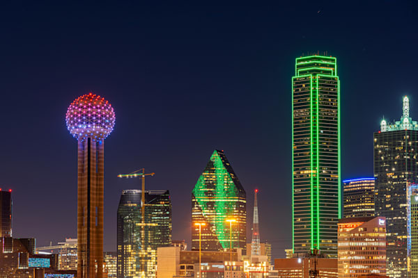Dallas Skyline at Night in January - Dallas Skyline Pictures | William Drew