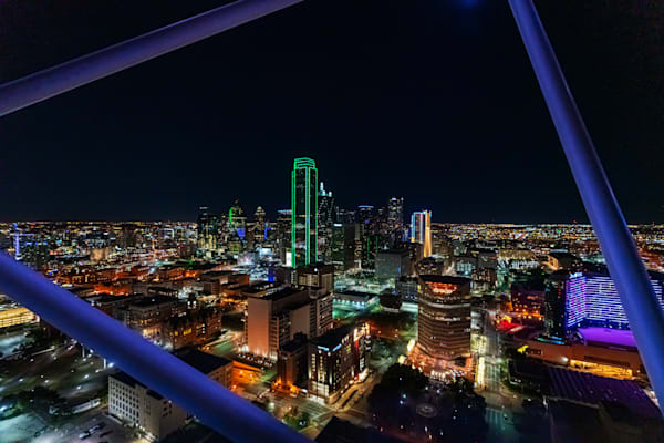The Dallas Skyline from Reunion Tower - Dallas Skyline Photo