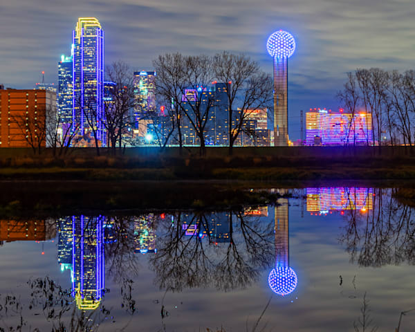 Dallas Skyline Reflection - Dallas City Skyline Picture