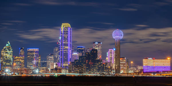 Kobe Bryant Dallas Skyline Tribute - Dallas Skyline Photo | William Drew