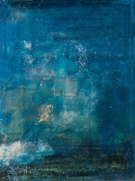 Woman in Blue - Abstract Art Prints Online | Artist Jenny McGee
