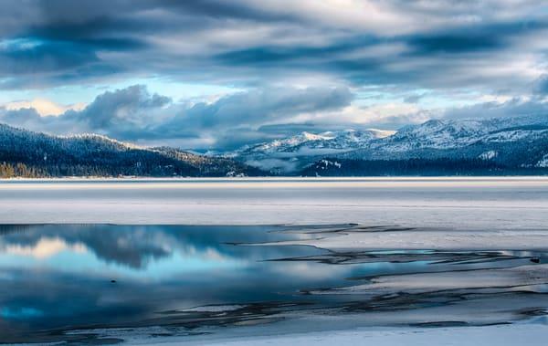 Blue Winter Lake