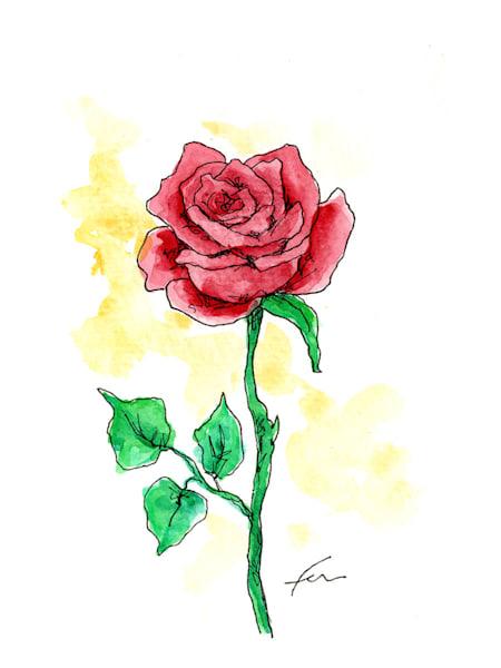 Red Rose 1 | Watercolor