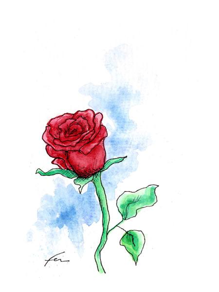 Red Rose 2 | Watercolor