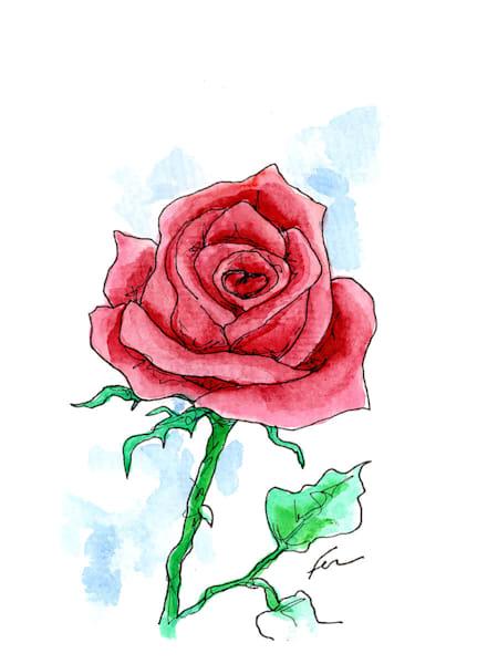 Red Rose 3 | Watercolor