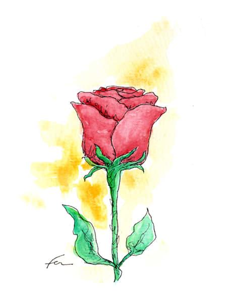 Red Rose 4 | Watercolor