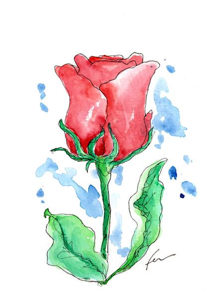 Red Rose 5 | Watercolor