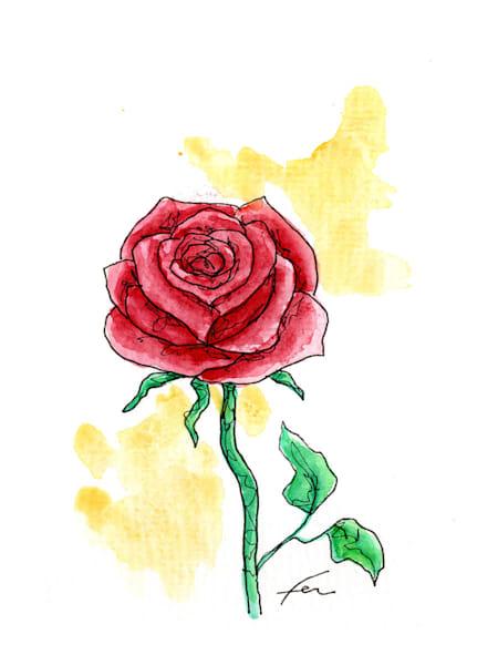 Red Rose 6 | Watercolor