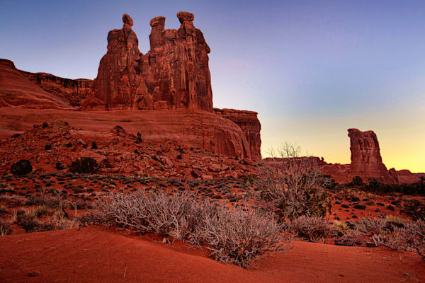 Sunrise at Three Gossips and Sheep Rock,Arches National Park