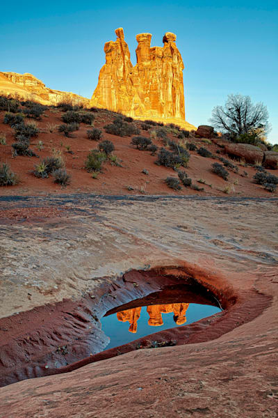 Three Gossips Reflection - Arches