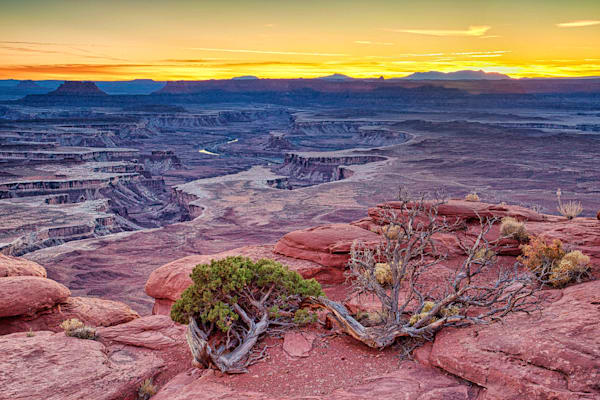 Sunset at Green River Overlook - Canyonlands