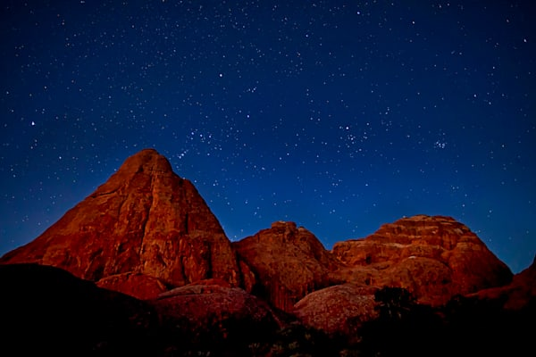 Red Rock Spires under the stars - Arches