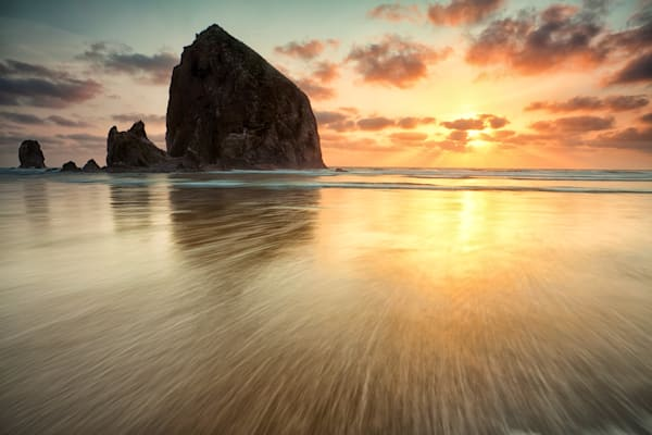 Haystack Rock Sunset at Cannon Beach