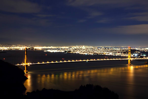 Golden Gate Span At Night Photography Art | Brent Fraser Photography