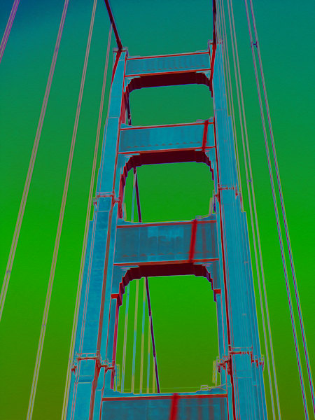 Golden Gate Bridge No. 2, print of photograph of Golden Gate Bridge, San Francisco for sale as digital art by Maureen Wilks