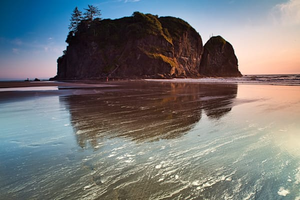 Ruby Beach Sea Stack Reflection