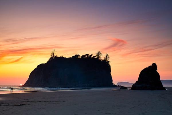 Ruby Beach Setting Sun