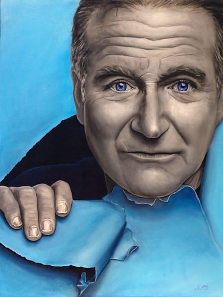 Robin Williams | Original Oil Painting Art | MMG Art Studio | Fine Art Colorado Gallery