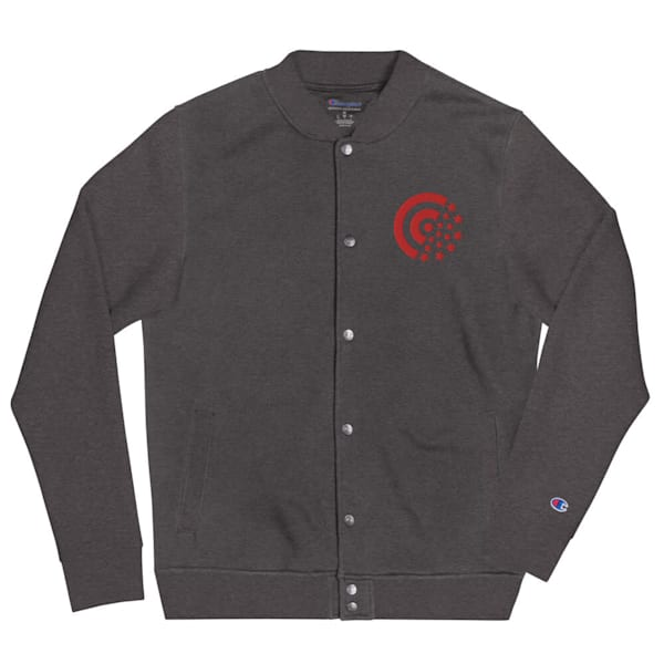 Red Label Embroidered Champion Bomber Jacket