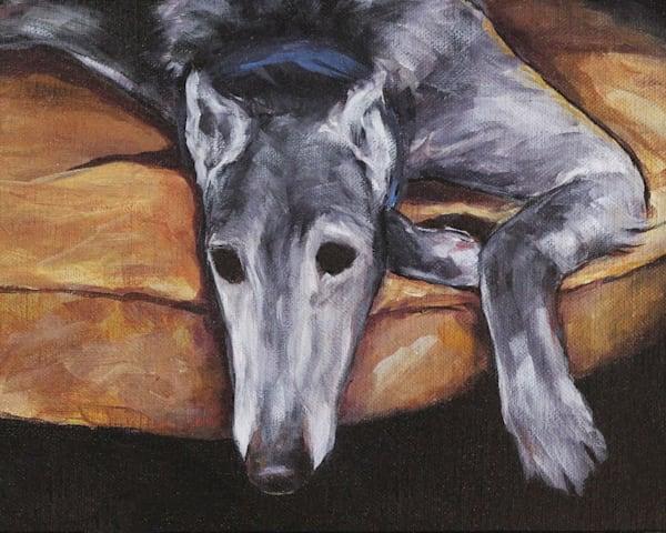 Greyhound Lounging Art | Joan Frimberger Fine Art