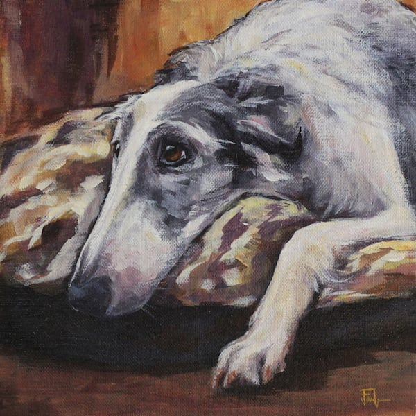 Lounging Borsoi Art | Joan Frimberger Fine Art