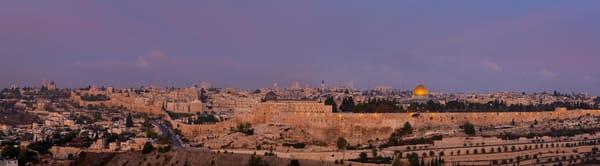 The Old City of Jerusalem at dawn, Jerusalem, Israel