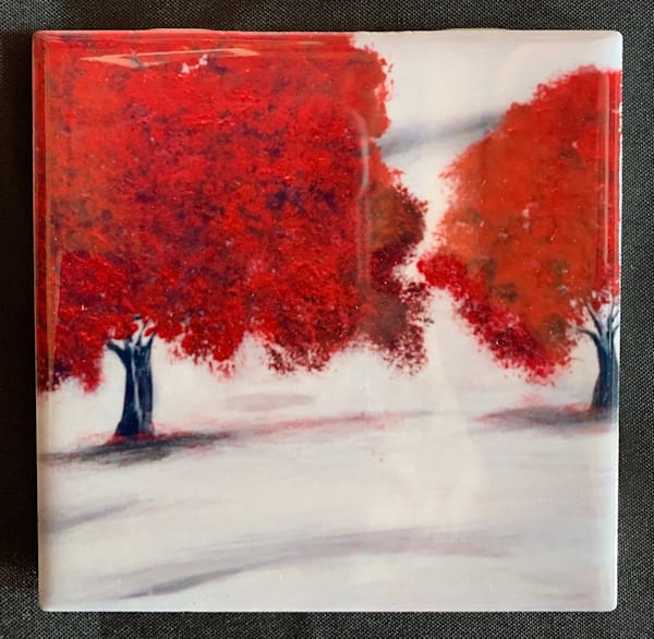 Red Trees | Marie Art Gallery