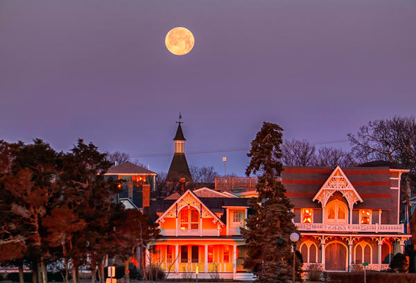 Oak Bluffs Snow Moon Reflections