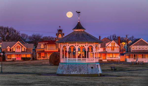 Bandstand Snow Moon Art | Michael Blanchard Inspirational Photography - Crossroads Gallery