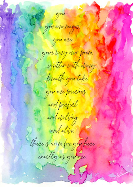 You are Magic, rainbow poem