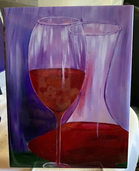 Carafe Of Wine by Marie Art Gallery/Marie Studios