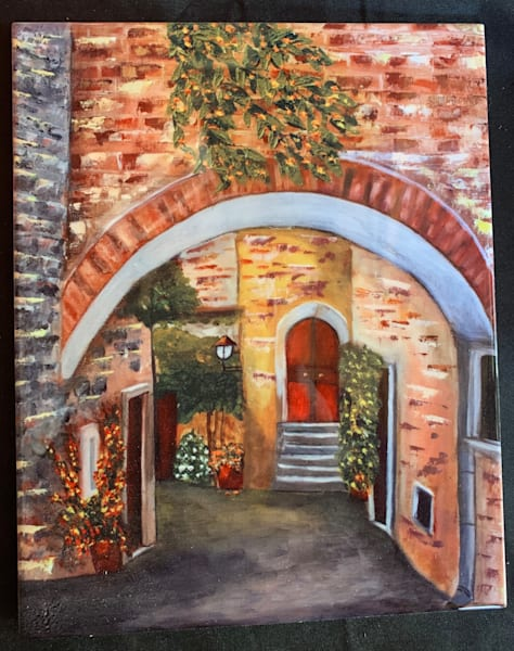 Narrow Street In Tuscany | Marie Art Gallery