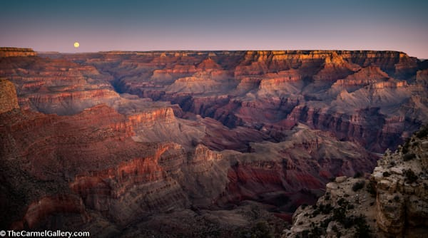 Sunrise Moon, Grand Canyon Art | The Carmel Gallery