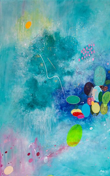 Reaching to the Universe I Painting on Canvas by Artist  Deepa Koshaley