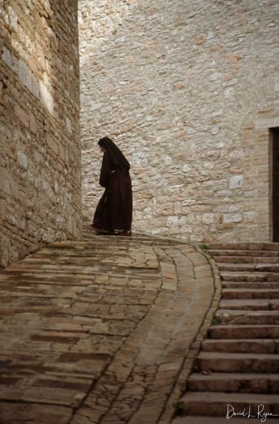 Nun at Basilica of St. Francis