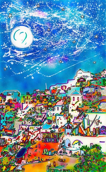 """Moon Over Santorini"""