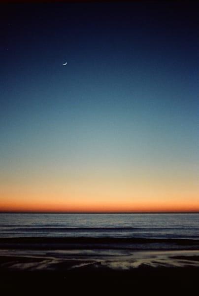 Moon Rise over Ocean Beach