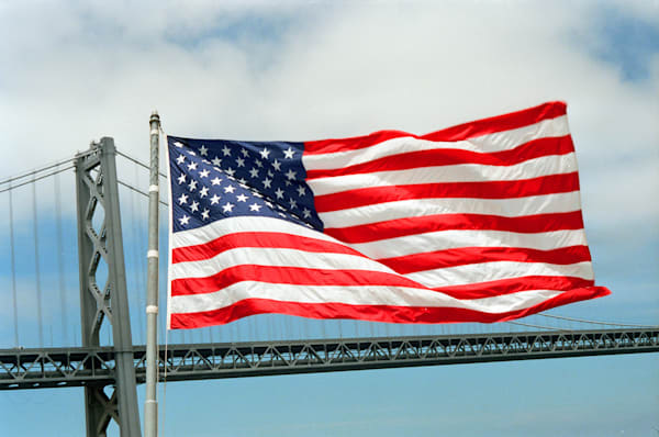 Flag at the Stern of the Battleship New Jersey