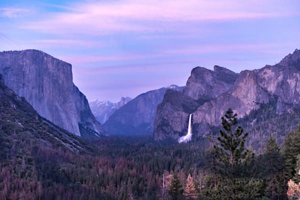 Sunset and Tunnel View - Yosemite National Park California landscape photograph print