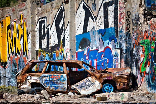American Flat Abandoned Car Photography Art | frednewmanphotography